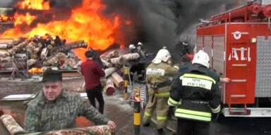 Großfeuer in Kasan