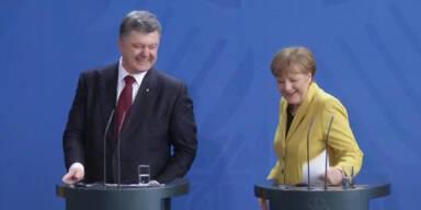 Treffen von Merkel und Poroschenko