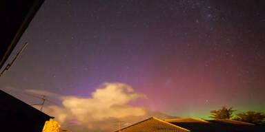 Himmelsschauspiel über Neuseeland
