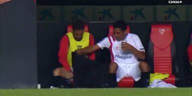 Sevilla-Star erleichterte sich vor laufender Kamera