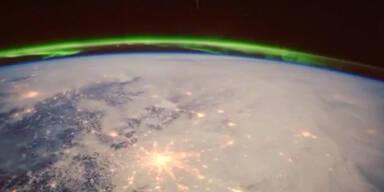 Astronaut filmt Nordlicht aus dem all