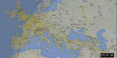 Flugverkehr über Europa