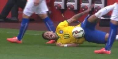 Wieder Brutalo-Foul an Neymar