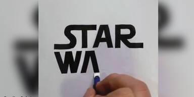 Künstler zeichnet Logos