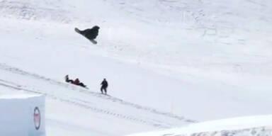 Snowboarder mit neuem Weltrekord