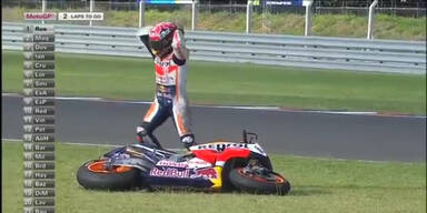 Rossi crasht sich zu 2. Saisonsieg