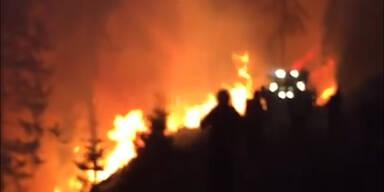 Riesiger Waldbrand auf dem Plankogel