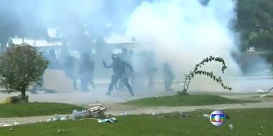 Verletzte bei Lehrerprotesten