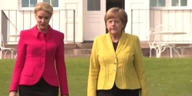 Merkel pocht auf Flüchtlingsquote