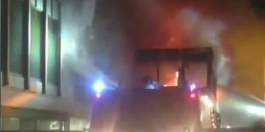Feuer am Flughafen in Rom