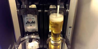 Bierautomat schenkt perfekt Bier ein