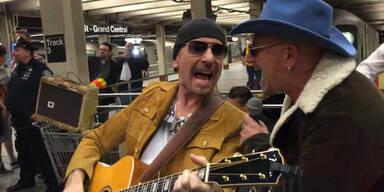 U2 und Jimmy Fallon in U-Bahn