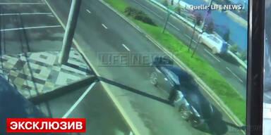 Crash mit Straßenlampe