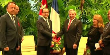 Hollande zu Besuch auf Kuba