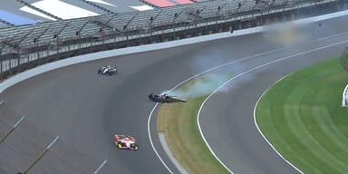 Feuer-Crash bei Indy500-Training