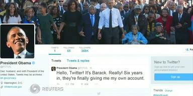 Barack Obama jetzt auf Twitter