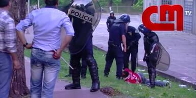 Polizeigewalt gegen Fußballfans