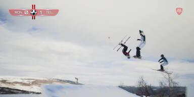 Fußball auf Skiern