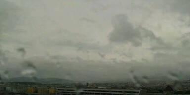 Heftige Regenschauer in Wien