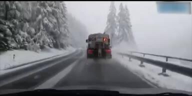Wintereinbruch Mitte Mai in Österreich