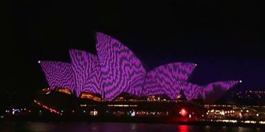 Lichterschau am Opernhaus von Sydney