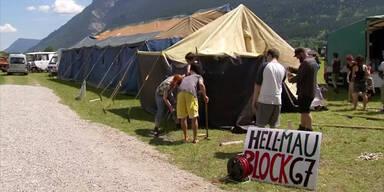 G7-Gegner bauen ihre Zelte auf