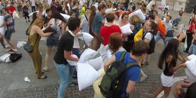 Polsterschlacht am Stephansplatz