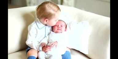 Kate und Willim zeigen Baby-Fotos