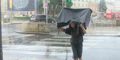 Starker Regen trifft Wien