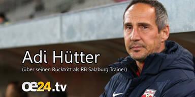 Adi Hütter über seinen Rücktritt