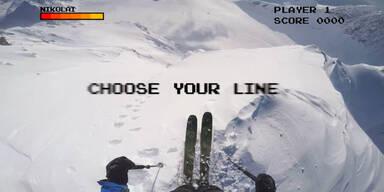 Skifahren im 8-Bit Modus