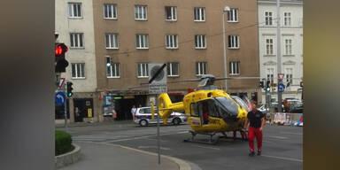 Hubschrauber-Einsatz am Naschmarkt
