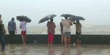 Flutwarnung in Mumbai