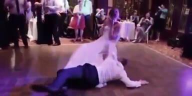 Betrunkener Bräutigam blamiert Braut