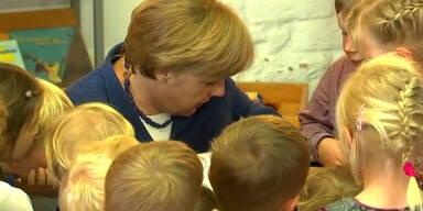 Angela Merkel liest für Kita-Kinder