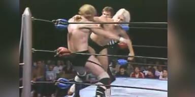 """""""Nature Boy"""" in einem Wrestling-Kampf"""