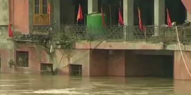 Heftige Überflutungen in Indien