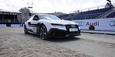 oe24 testete selbstfahrenden Audi in Wien