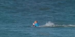 Surf-Star schlägt Hai in die Flucht