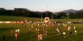 Hooligan-Schlacht bei Lindner-Testspiel
