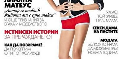 Liliana Matthäus auf dem Cover der russischen Elle