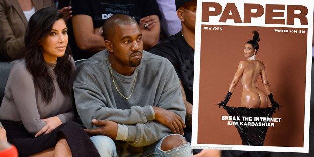 Nacktpics: Kanye sah Kim beim Einölen zu