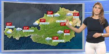 Das Wetterupdate: Verbreitet Regenschauer, kühl
