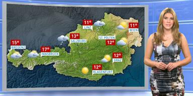 Das Wetter heute: Meist bewölkt, im Westen zeitweise sonnig