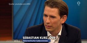 Im TV: Kurz im Streit mit deutschem Minister