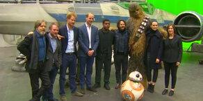 William & Harry am Star Wars Set