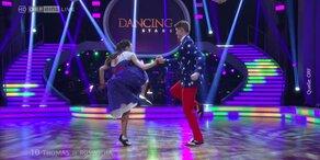 Thomas Morgenstern und Roswitha Wieland tanzen Jitterbug