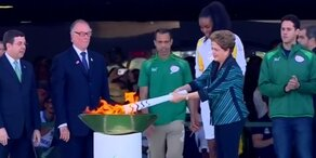 Olympisches Feuer in Rio angekommen