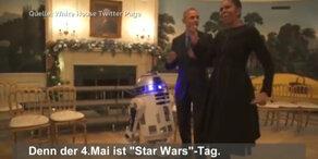 Lustiger Star Wars Tanz der Obamas