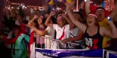 Peru jubelt über Sieg gegen Bolivien